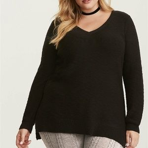 Torrid Sweater 3 3X Knit Strap Back Tunic V-Neck